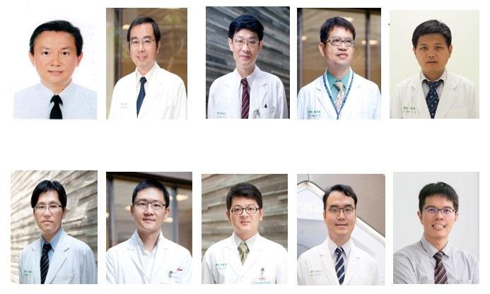 圖片依序為:質子醫學中心趙坤山院長、放射腫瘤科梁基安主任