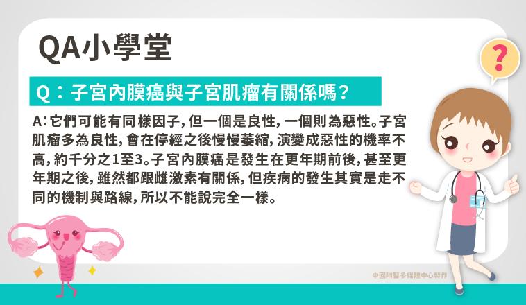張穎宜醫師|子宮內膜癌與子宮肌瘤有關係嗎?