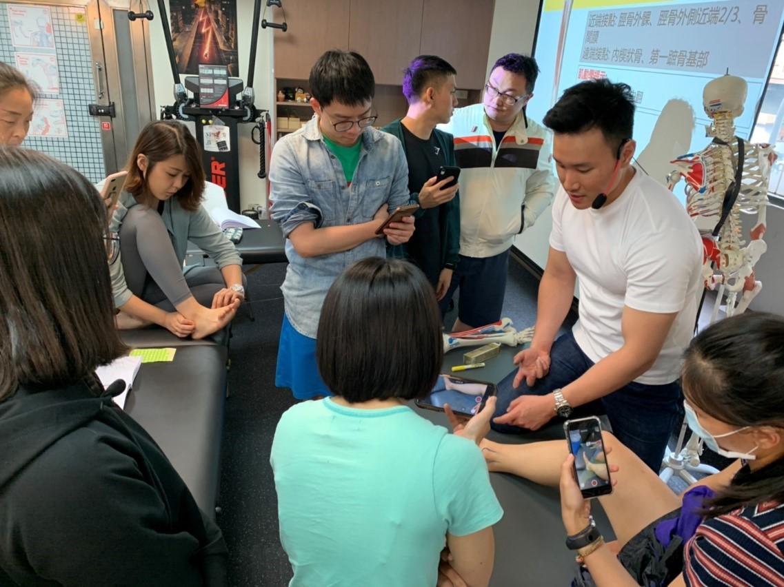 中醫傷科醫師於台灣動作專家協會進修,主題:下肢基礎解剖肌肉動力學