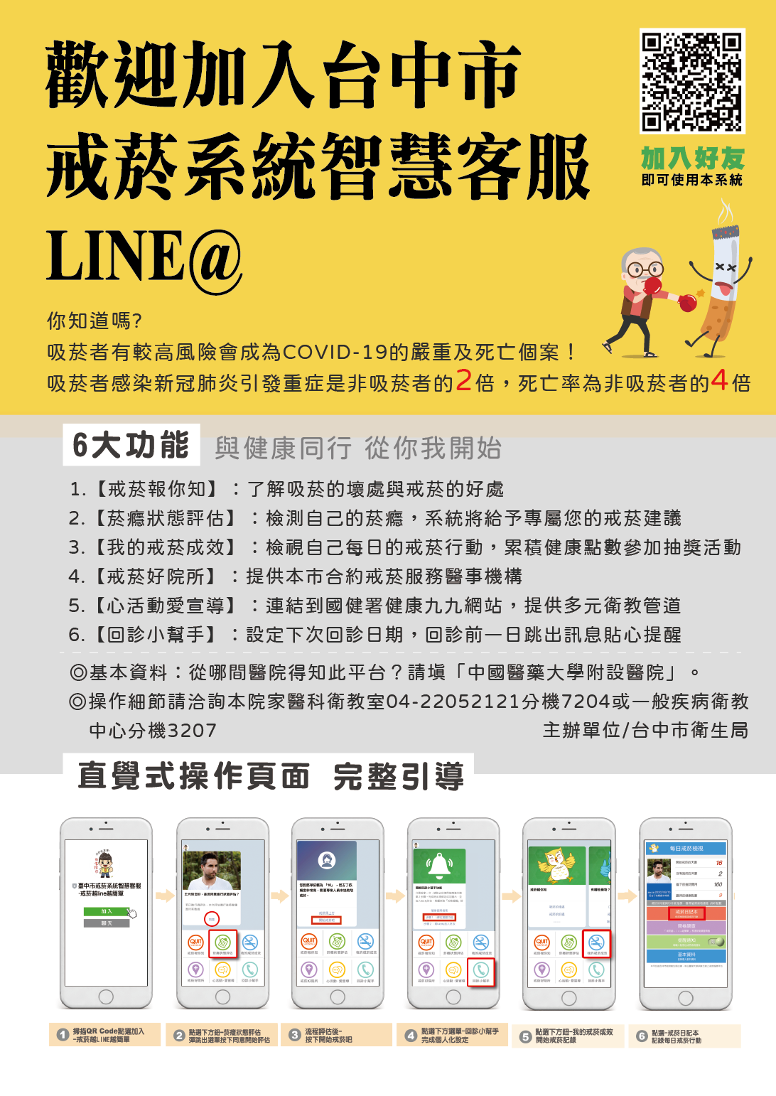 台中市戒菸系統智慧客服LINE@