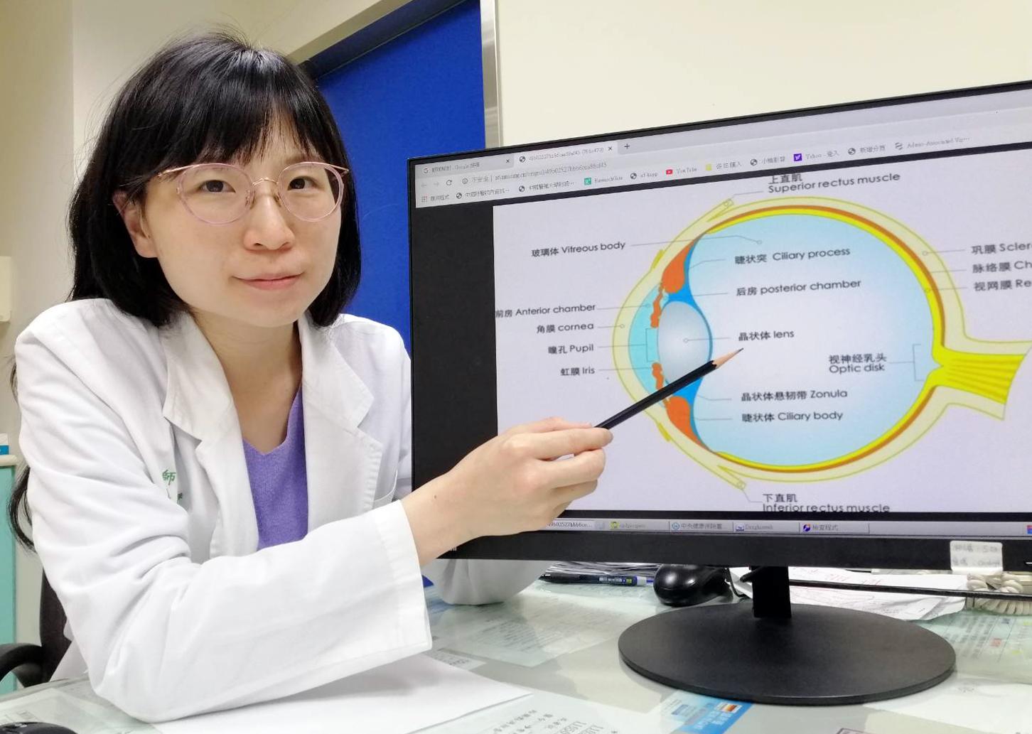 眼科醫學中心 夏寧憶醫師|工作不慎釘槍反彈刺入眼「植入人工水晶體」矯正視力恢復 1.0