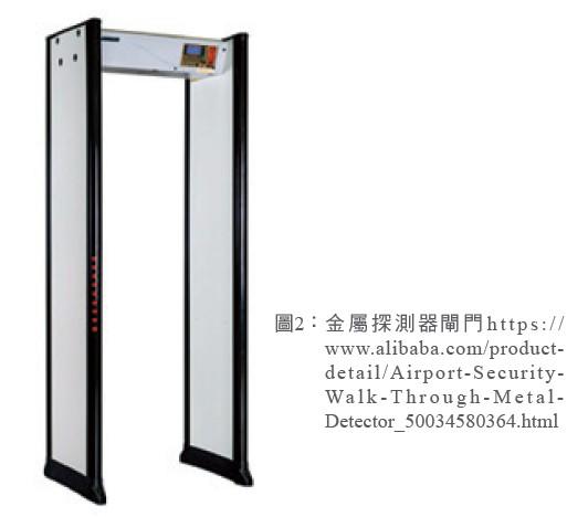 圖2: 金屬探測器閘門