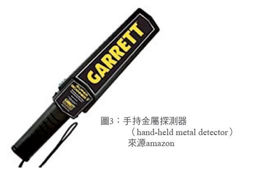 圖3:手持金屬探測器