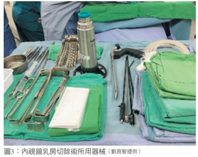 圖3:內視鏡乳房切除術所用器械(劉良智提供)