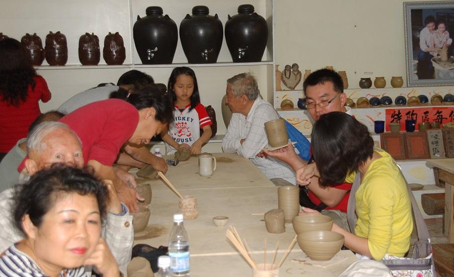 我們在「親手窯」製作陶土