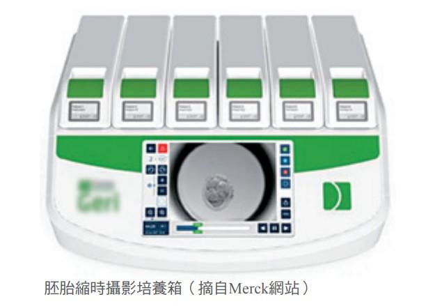 胚胎縮時攝影培養箱(摘自Merck網站)