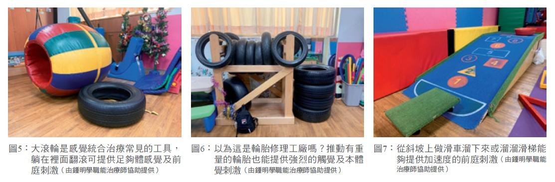 圖5: 大滾輪是感覺統合治療常見的工具